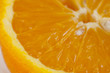 Fresh juicy orange close up