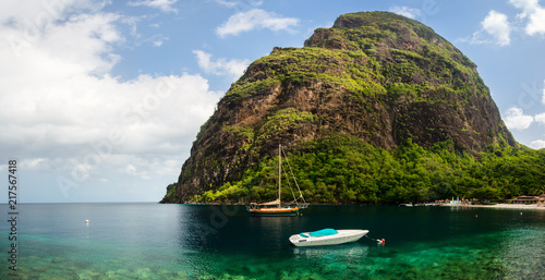 Canvas Prints Hill Beautiful view of Petit Piton mountain
