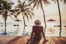 Tourist In Luxury Beach Hotel ...