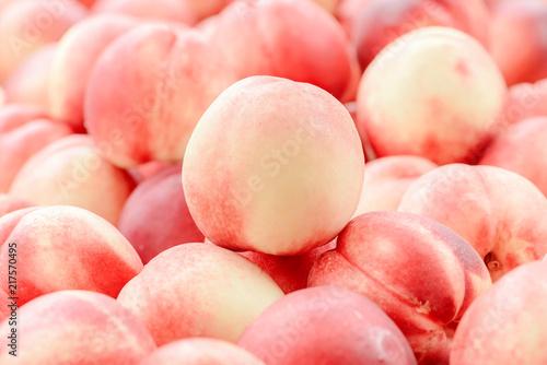 Valokuva  Peach close up fruit background