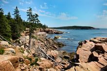 Acadia Rocky Coast In Maine Wi...