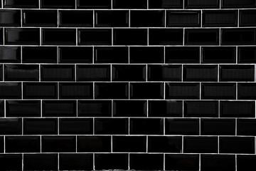 Black ceramic tiles, Wallpaper and background concept.