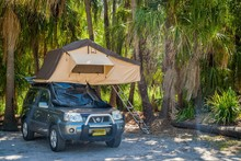 Tent Above Suv Car In A Camp S...