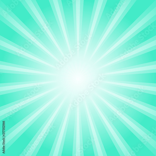 Sunlight Retro Faded Background Turquoise Color Burst Background