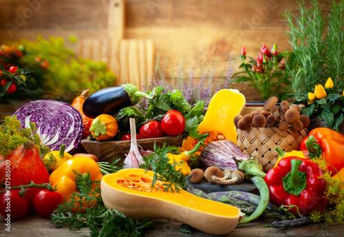 Staande foto Groenten Assorted fresh vegetables