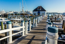 View Of A Marina With Yachts Docked (The Hamptons, USA)