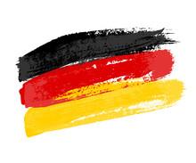 German Flag Made Of Brush Stro...