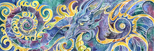Triptych Chinese Dragon Full S...