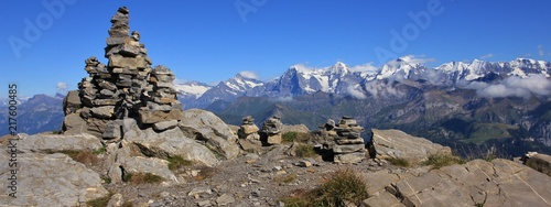 Leinwand Poster Famous mountains Eiger, Monch and Jungfrau