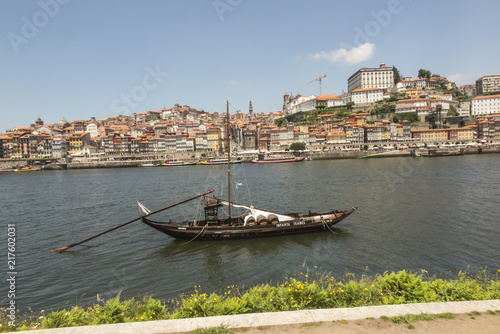 City on the water Porto, Portugal, June 15, 2018: Panorama of the Douro estuary and the city of Porto