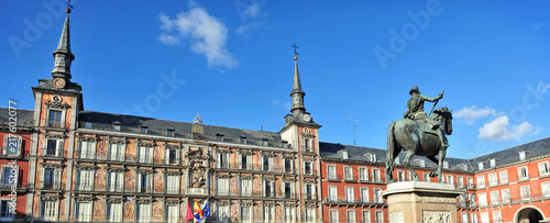 Plaza Mayor square in Madrid Spain