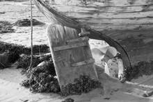 Old Boat Propeller And Rudder