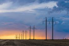 Rural Landscape With High-volt...
