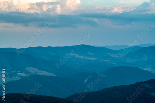 Fotografie, Obraz  A dramatic sunset viewed from Spruce Knob West Virginia in the Appalachian Mount