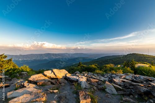 Obraz na płótnie A dramatic sunset viewed from Spruce Knob West Virginia in the Appalachian Mount