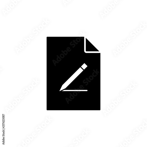 Fotografia, Obraz  a pen on document icon