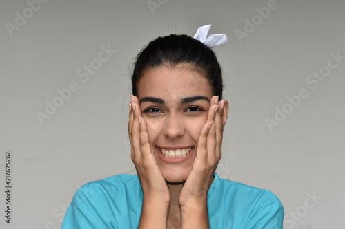 Fotografie, Obraz  Pretty Cute Female Nurse