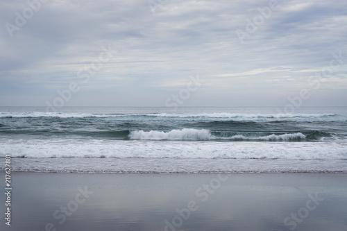 Fotografie, Obraz  Overcast Monochromatic Beach