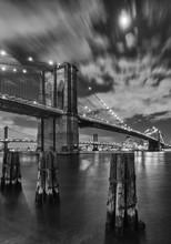 Brooklyn Bridge And Clouds, Study 2