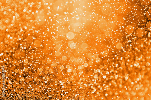 Abstract Autumn, Birthday, Halloween or Thanksgiving Glitter Background