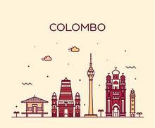 Colombo Skyline, Sri Lanka. Ve...