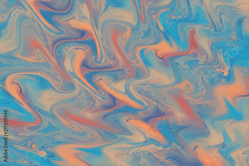 Photo Stands Fractal waves Abstract colorful wavy texture. Fantasy fractal background. Digital art. 3D rendering.