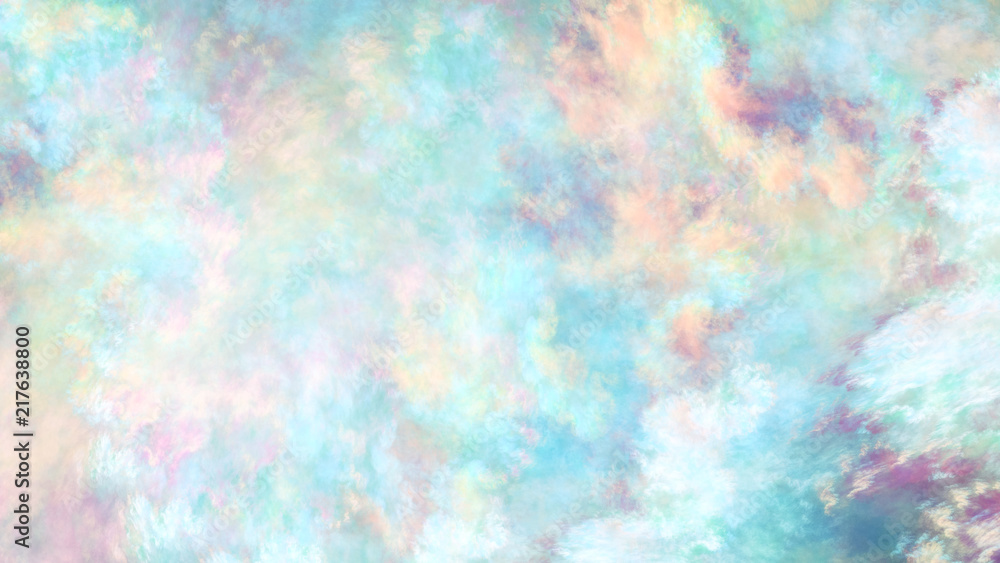 Fototapeta Abstract colorful painted texture. Fractal background. Fantasy digital art. 3D rendering.