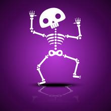 Cartoon Dancing Skeleton With ...