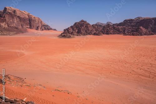 Poster Corail The Mars-like Wadi Run Desert Protected Area in Southern Jordan