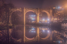 Viaduct Over The River Nidd At Knaresborough In Yorkshire, England