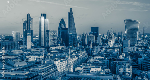 Poster London The City of London Skyline