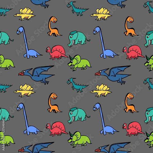 bezszwowe-dinozaura-recznie-rysowane-slodkie-modne-dla-dzieci-i-dzieci