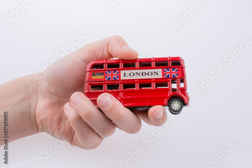 Photo  London Bus in hand