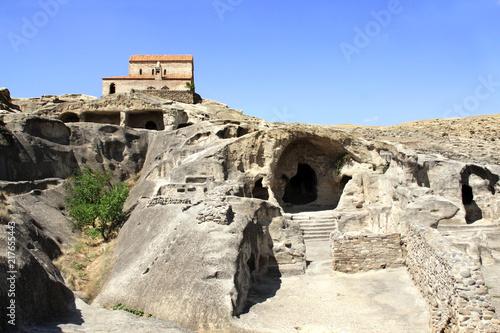 Ancient orthodox church in antique cave city Uplistsikhe, Georgia