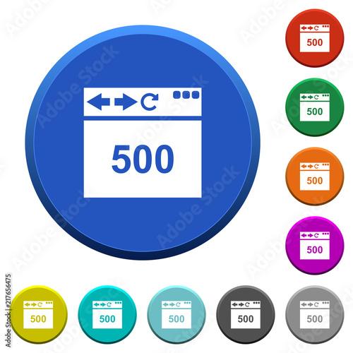 Poster  Browser 500 internal server error beveled buttons