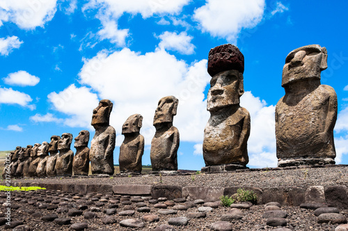 Moais of Ahu Tongariki, Easter island, Chile Canvas Print