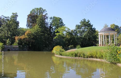 Lac du parc de l'Orangerie à Strasbourg Alsace France #217662828