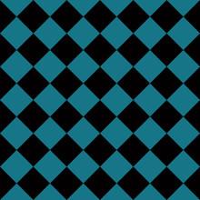 Seamless Chess Pattern Black And Blue Pattern