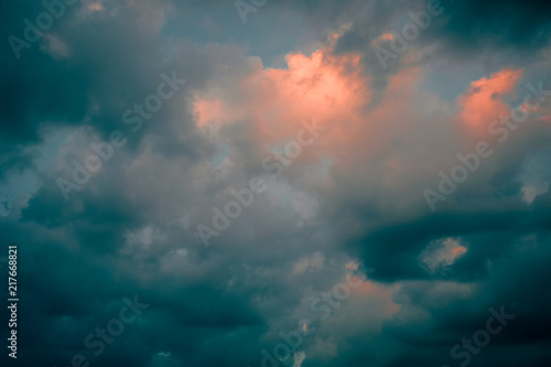 Foto  Dramatic sky with stormy clouds nature background