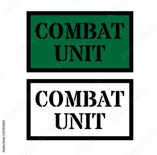 Fotografía  combat unit sign