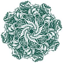 A Round Hand-drawn Pattern, Decor Design Clipart