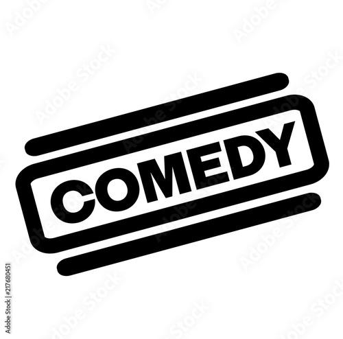 Photo comedy black stamp