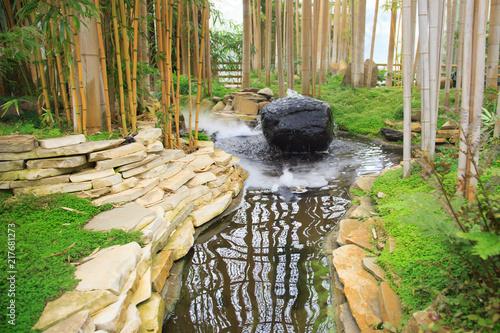 Erholung im Bambusgarten