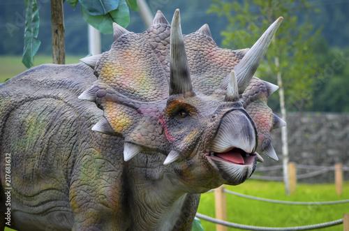Dinosaur model Triceratops Wallpaper Mural