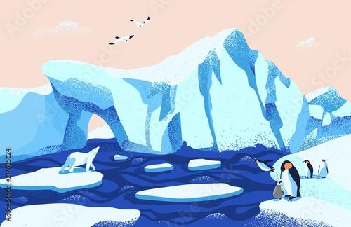 Fotografie, Obraz  Beautiful Arctic or Antarctic landscape