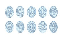 Set Of Fingerprints Of Various...