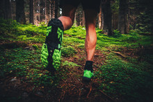 Trail Shoes Man Running On Tra...
