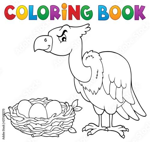 Poster Voor kinderen Coloring book bird topic 2