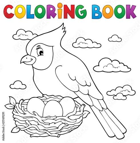 Poster Voor kinderen Coloring book bird topic 3