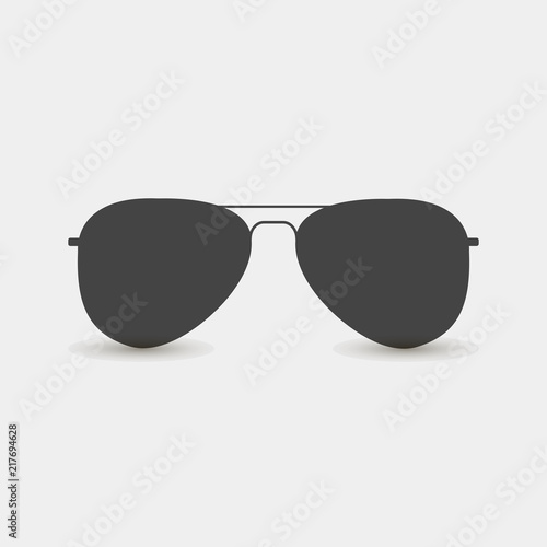 Photo Aviators glasses vector icon